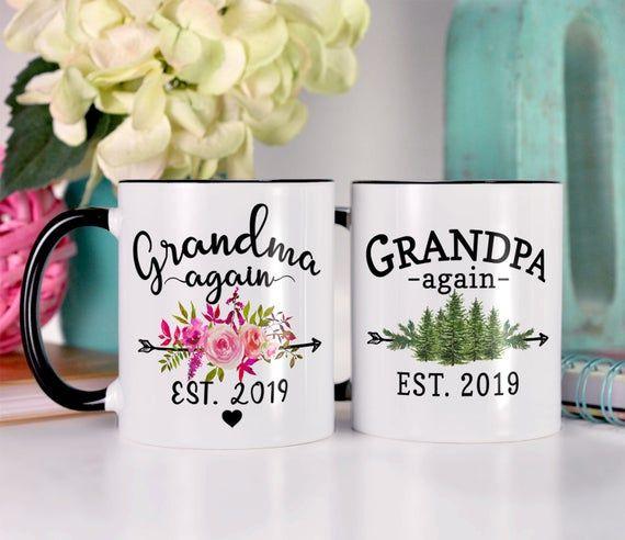 New Grandparent Gifts for Grandparents Mug Set, Personalized Grandma and Grandpa Mugs, Grandparent P #bestgiftsforgrandparents