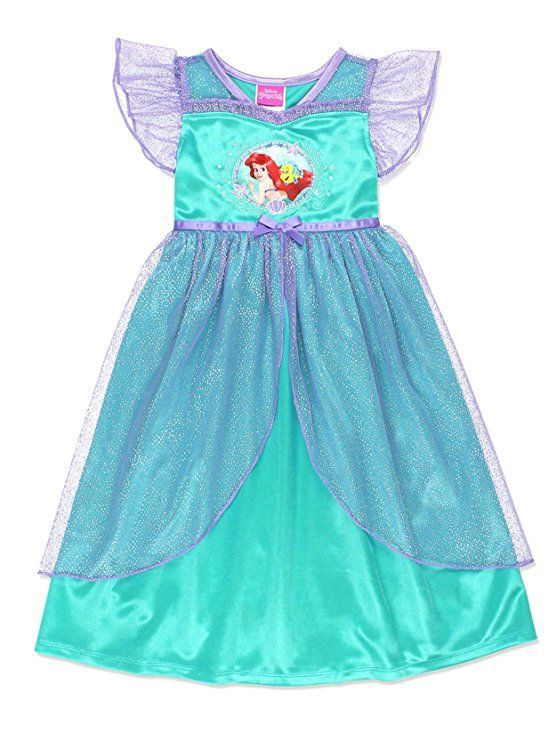 420a41b8fa The Little Mermaid Ariel Toddler Little Girls Fantasy Gown Nightgown  Pajamas Sleepwear