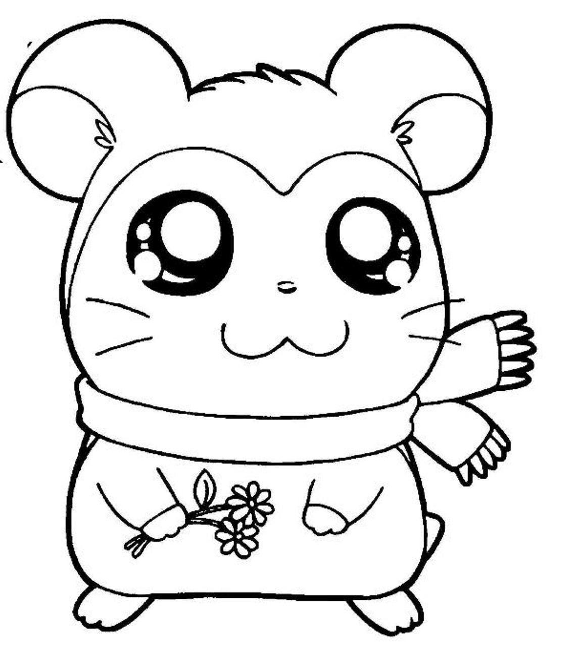 Cartoon Coloring Pashmina Hamtaro Coloring Pages Pashmina Hamtaro Coloring Pagesfull Size Image