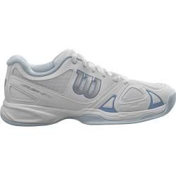 Photo of Wilson indoor rush evo carpet women's tennis shoes, size 41 in white WilsonWilson