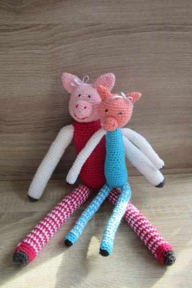 doudou cochon au crochet doudous attache sucette b b pinterest doudou sucette b b et. Black Bedroom Furniture Sets. Home Design Ideas
