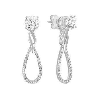 Round Diamond Earring Jackets Shaneco Lightaspark Sweepstakes