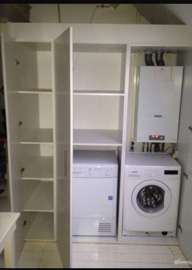 Wasmachine kast - Wasmachine kast | Pinterest - Kast, Zolder en ...