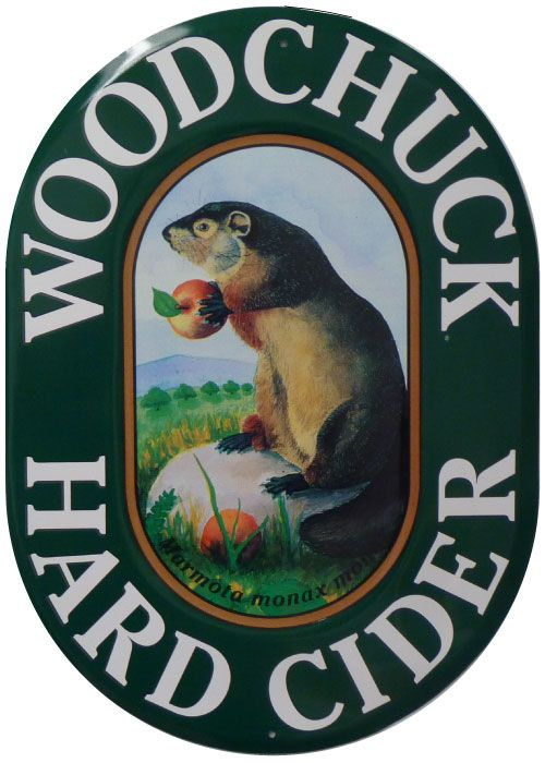 Woodchuck Hard Cider Metal Sign. Definitely buying this for my kitchen or living room!