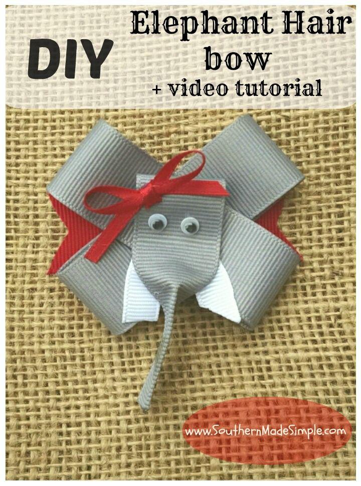 diy elephant hair bow video tutorial