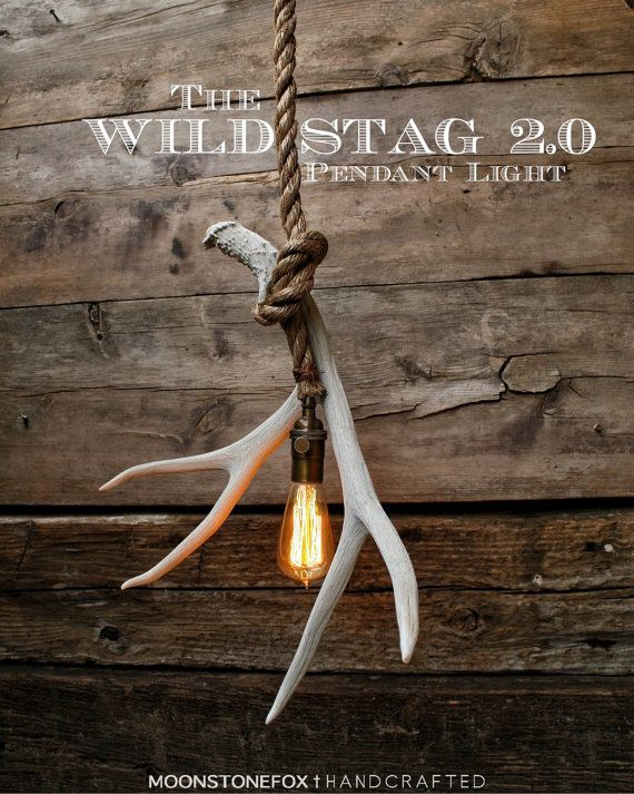 This is the Antler Pendant light. The electrical cord has been hand wrapped…