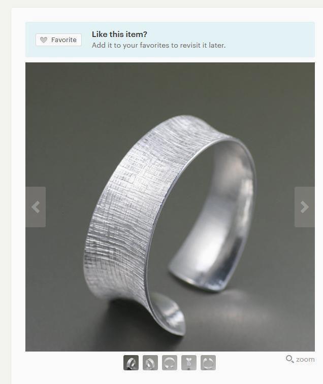 Striking Linen Silver-Toned Bangle Bracelet Presented on #Etsy #Bangles #Handmade #Accessories https://www.etsy.com/listing/246557488