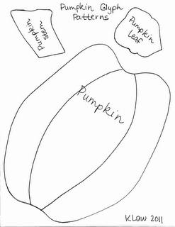 First Grade a la Carte: Orange Week...Pumpkin Glyph