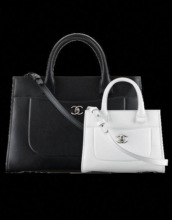 d8bd1320ac12 Chanel Black Medium and White Mini Neo Executive Shopping Bags  #Chanelhandbags