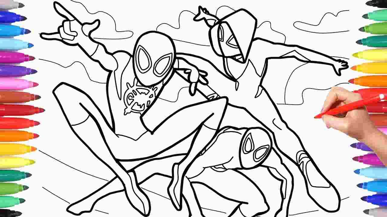 Spider Verse Coloring Sheet Coloring Pages Paw Patrol Coloring