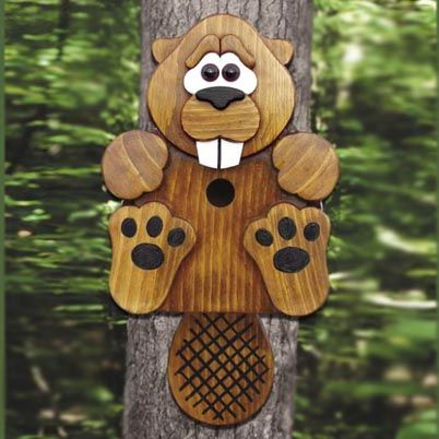 Outdoor Plan - Beaver Birdhouse Plan