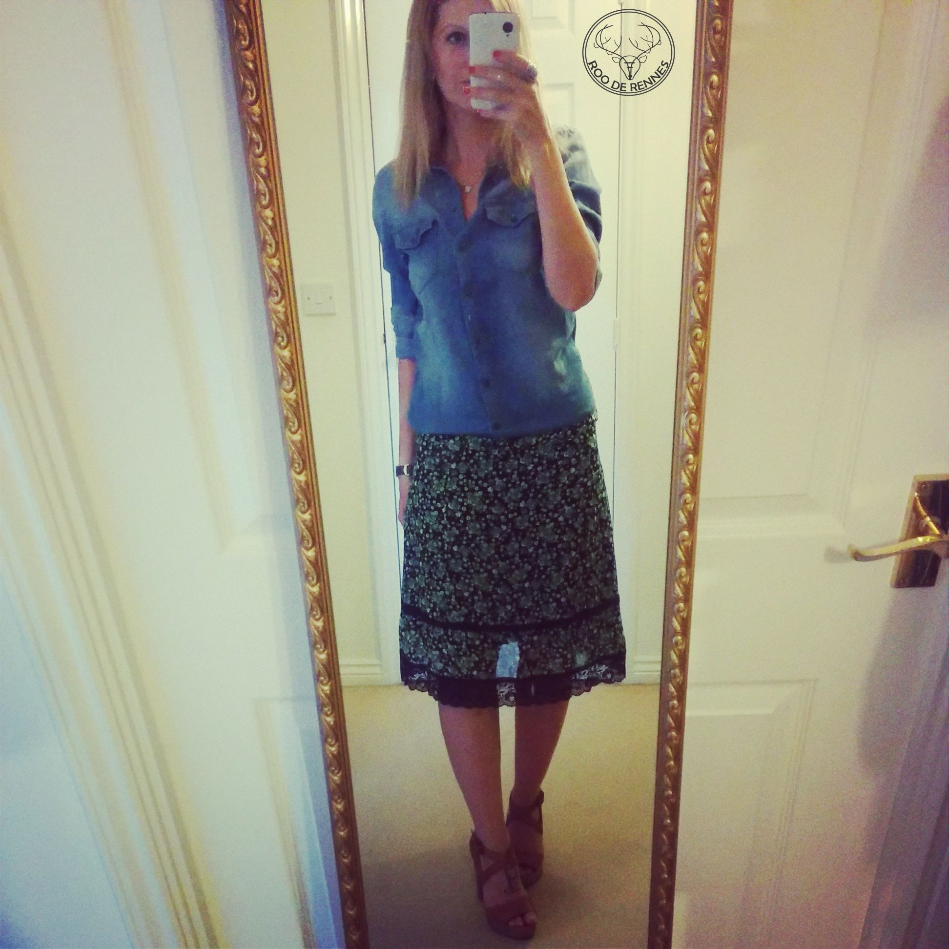 Outfit of the day primark denim shirt with my topshop ...