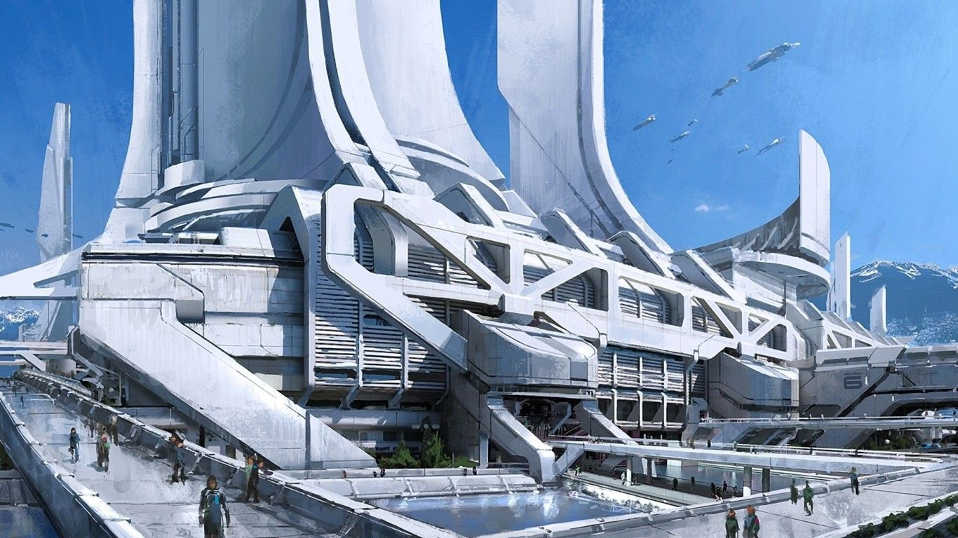 Futuristische Architektur Http://hqdesktop.net/wallpapers/l/1366x768/45/futuristic ...