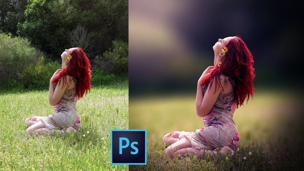 How to blur background and retouching a photo in