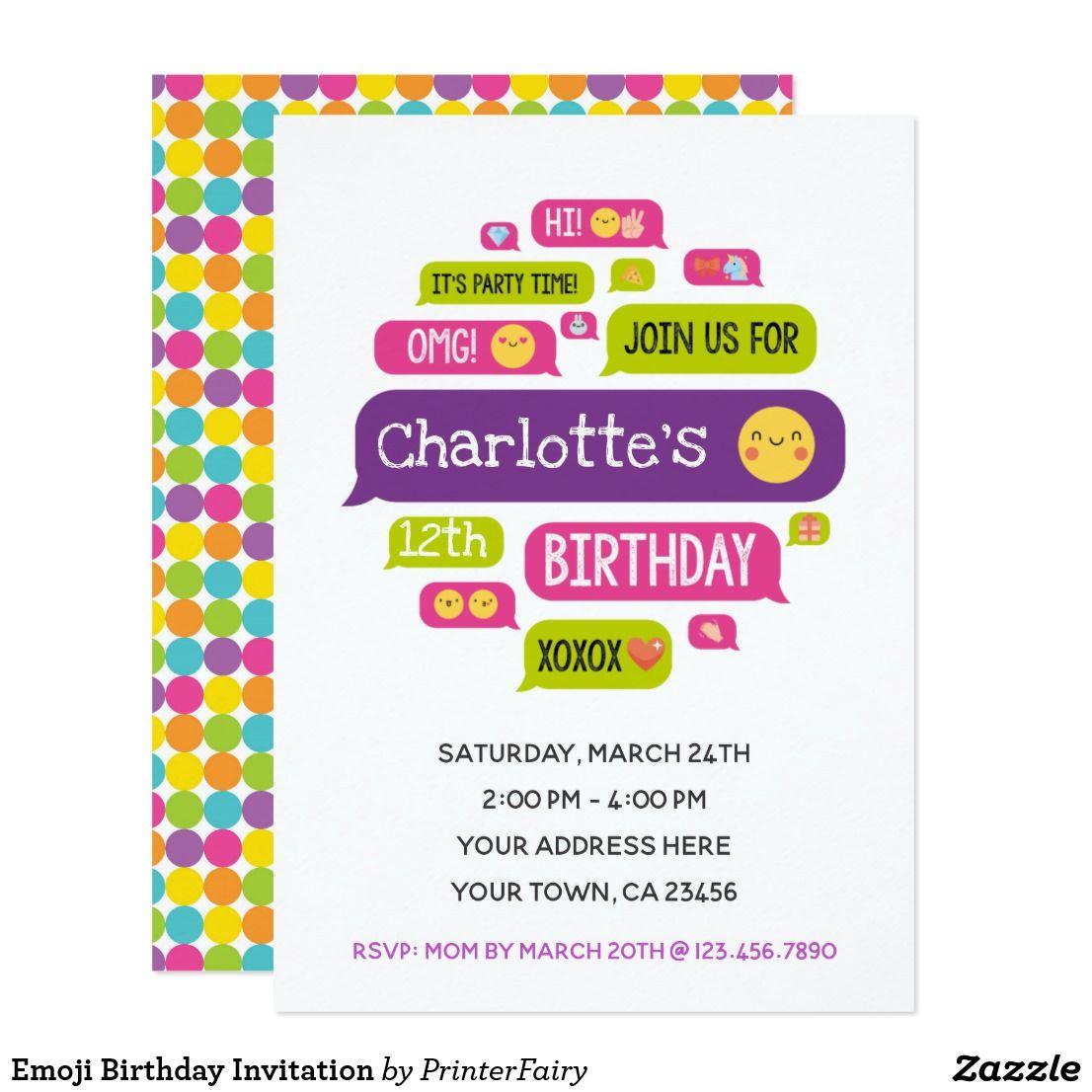 Emoji Birthday Invitation Emoji Party Pinterest Birthday