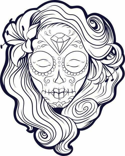 Pin By Sonia Oneto On Escuela Skull Coloring Pages Coloring Pages Coloring Pages For Girls