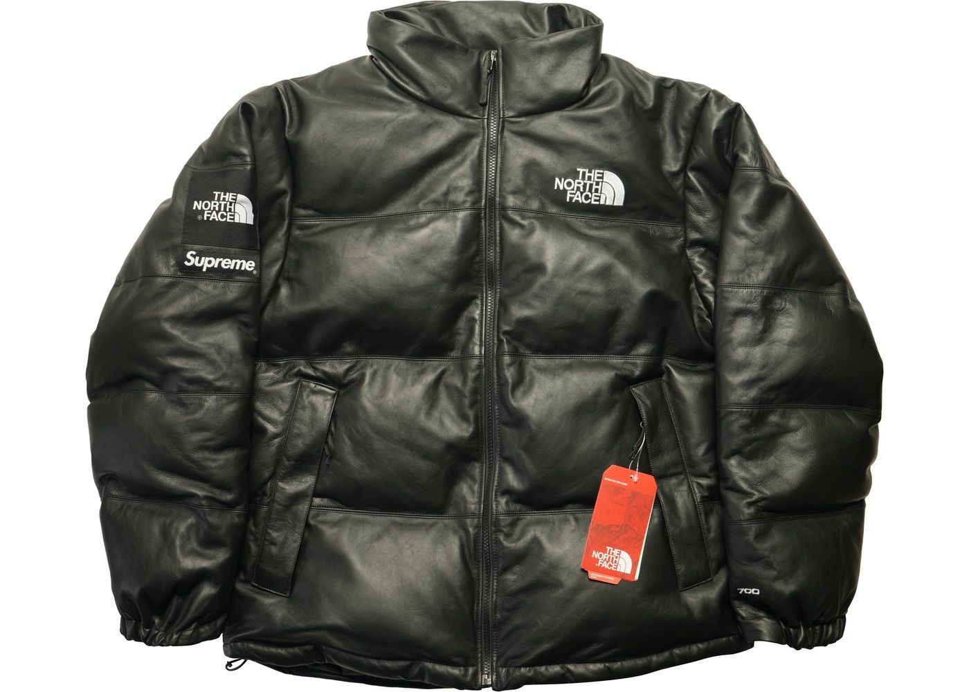 Supreme The North Face Leather Nuptse Jacket Black In 2021 The North Face Leather Black Jacket [ 1000 x 1400 Pixel ]