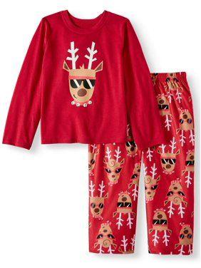54f682449 Holiday Family Sleep Reindeer 2-Piece Pajama Set (Toddler Boys ...