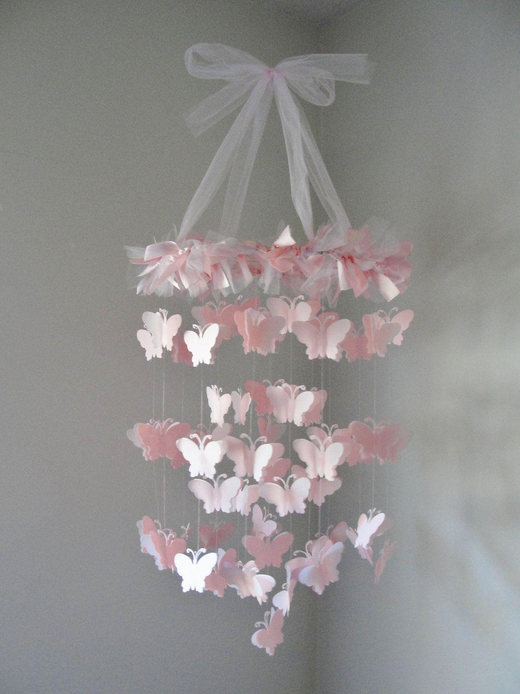 Pink chandelier butterfly mobile butterfly mobile chandeliers and chandelier butterfly mobile by littlebopress on etsy 4500 arubaitofo Gallery