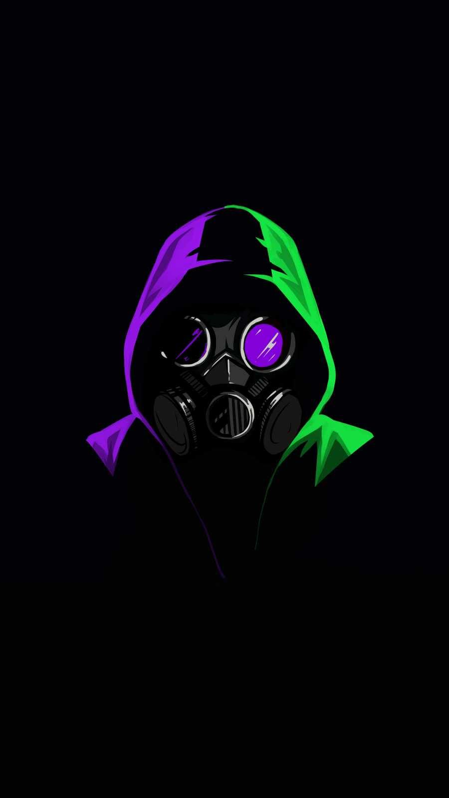 Hoodie Person Amoled IPhone Wallpaper - IPhone Wallpapers