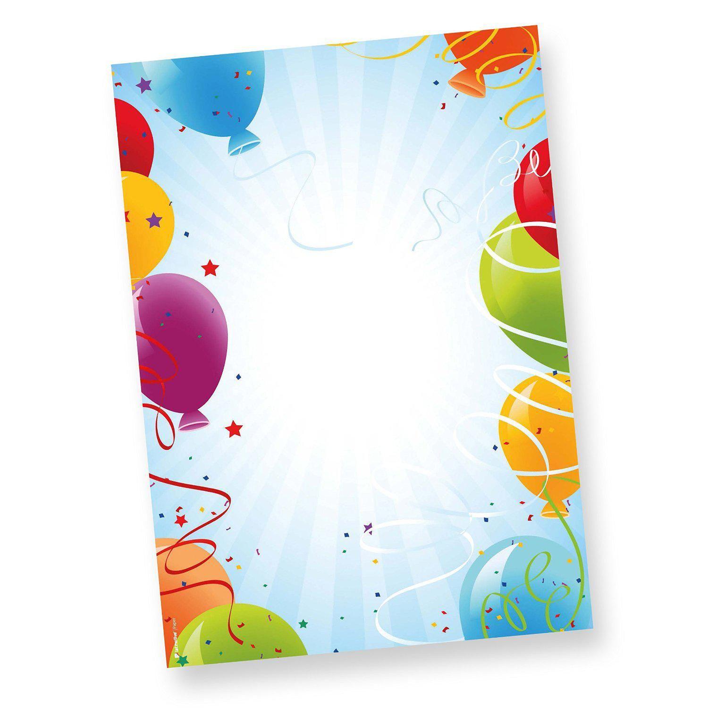 Einladungen Zum Geburtstag Drucken