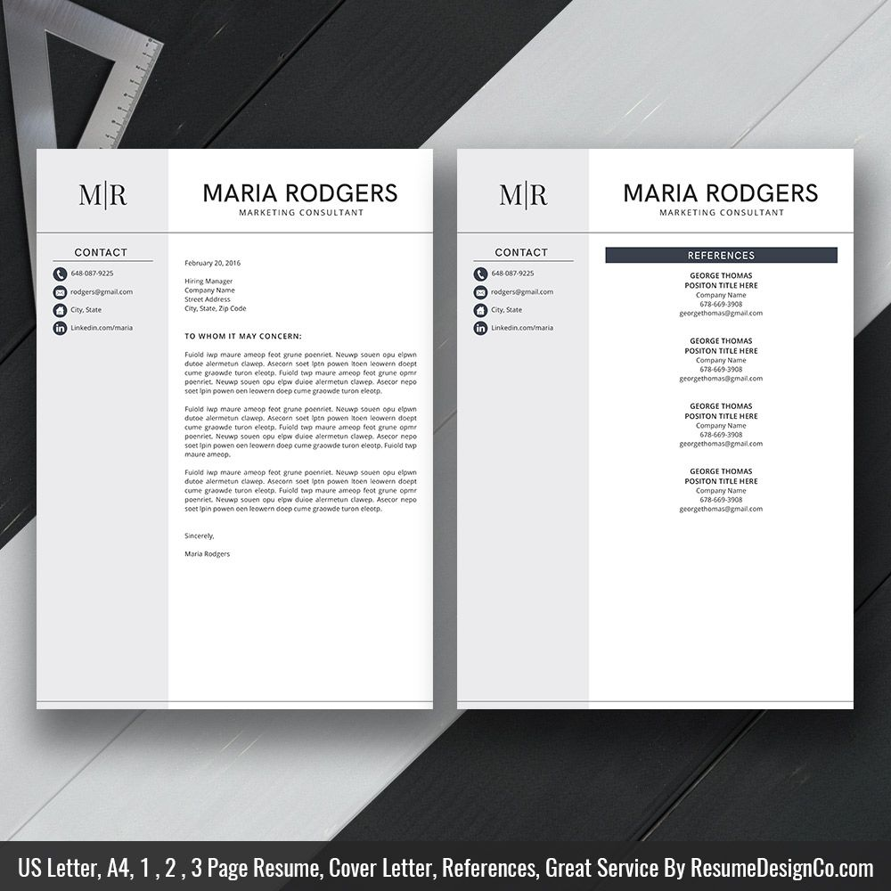 Professional Resume Template MS Word, Simple and Modern