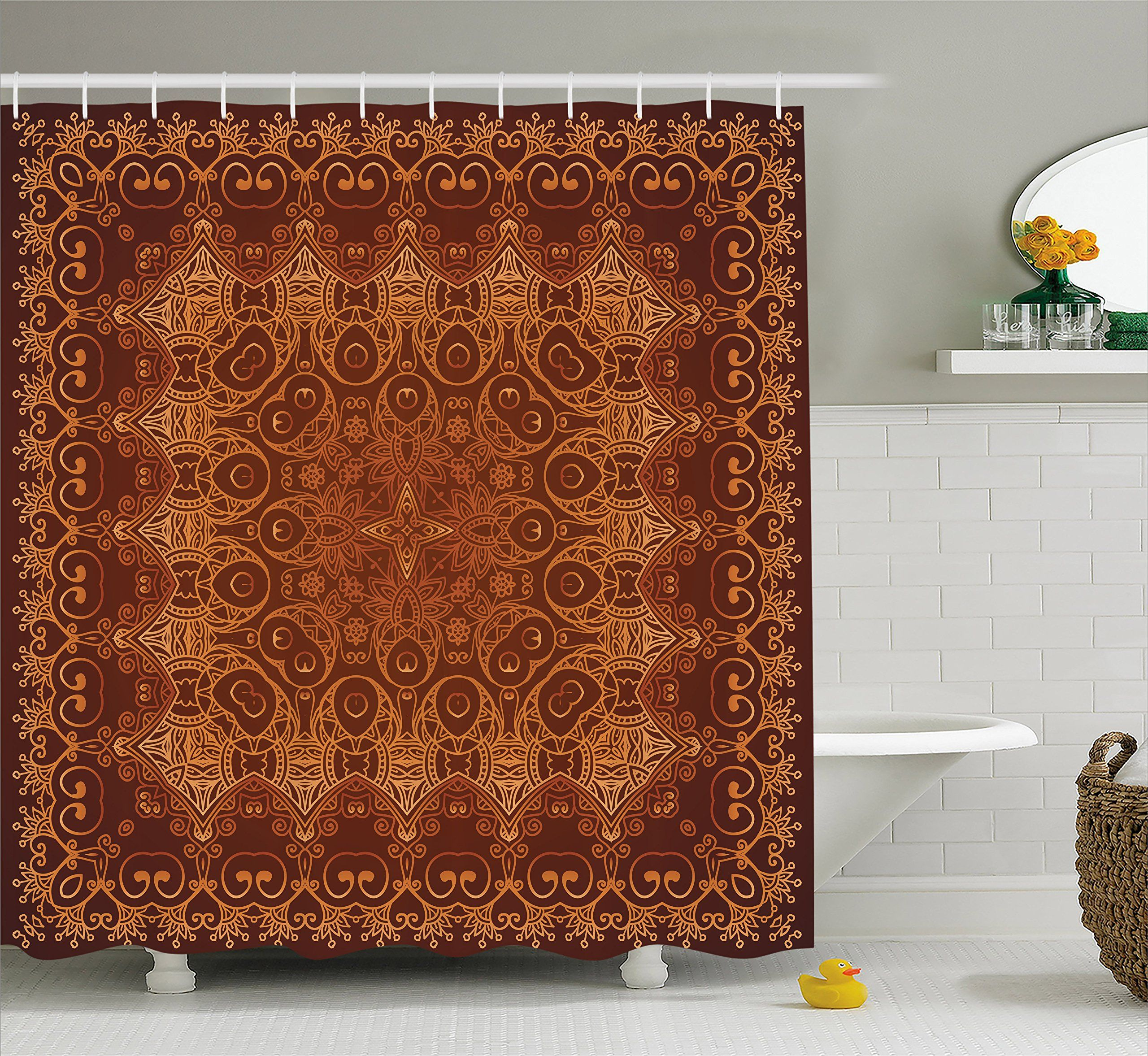 Antique Decor Vintage Shower Curtain By Ambesonne Lacy Persian