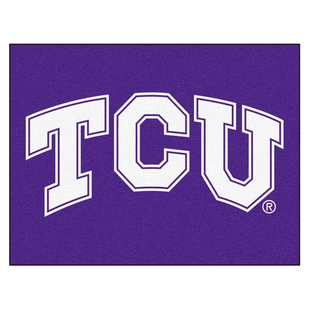 TCU Horned Frogs Purple Tufted Area Rug