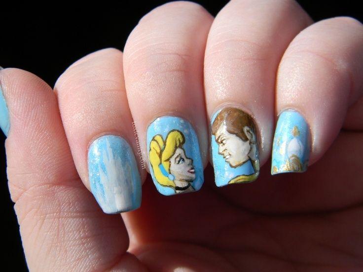 Cinderella Nails Cinderella Nails Nail Art Pinterest