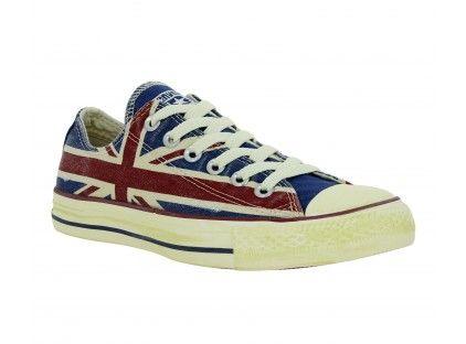 Converse CHUCK TAYLOR ALL STAR FLAG PRINT HI Bleu Baskets