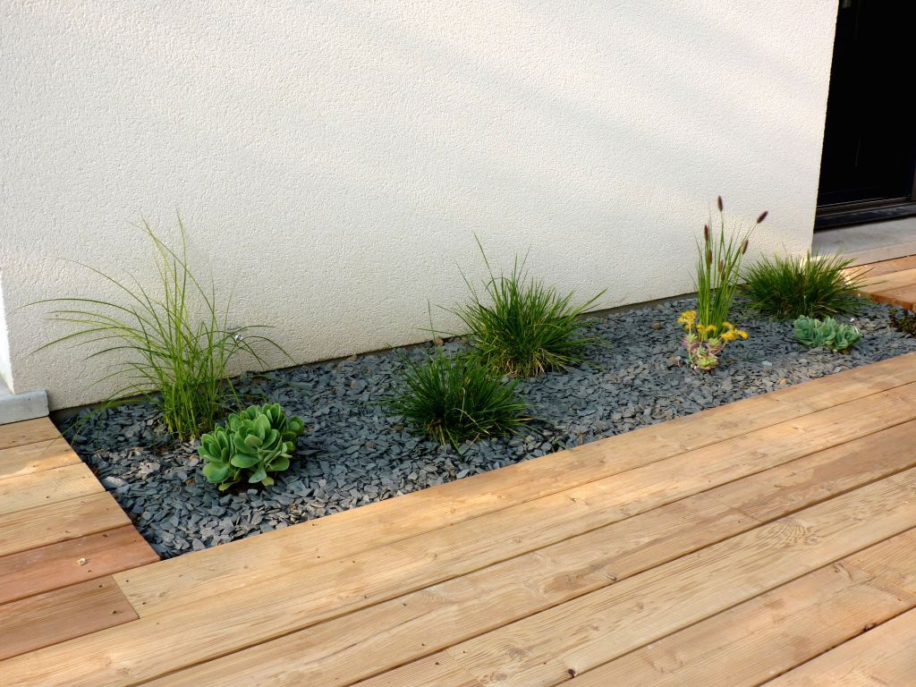 Plantation et terrasse