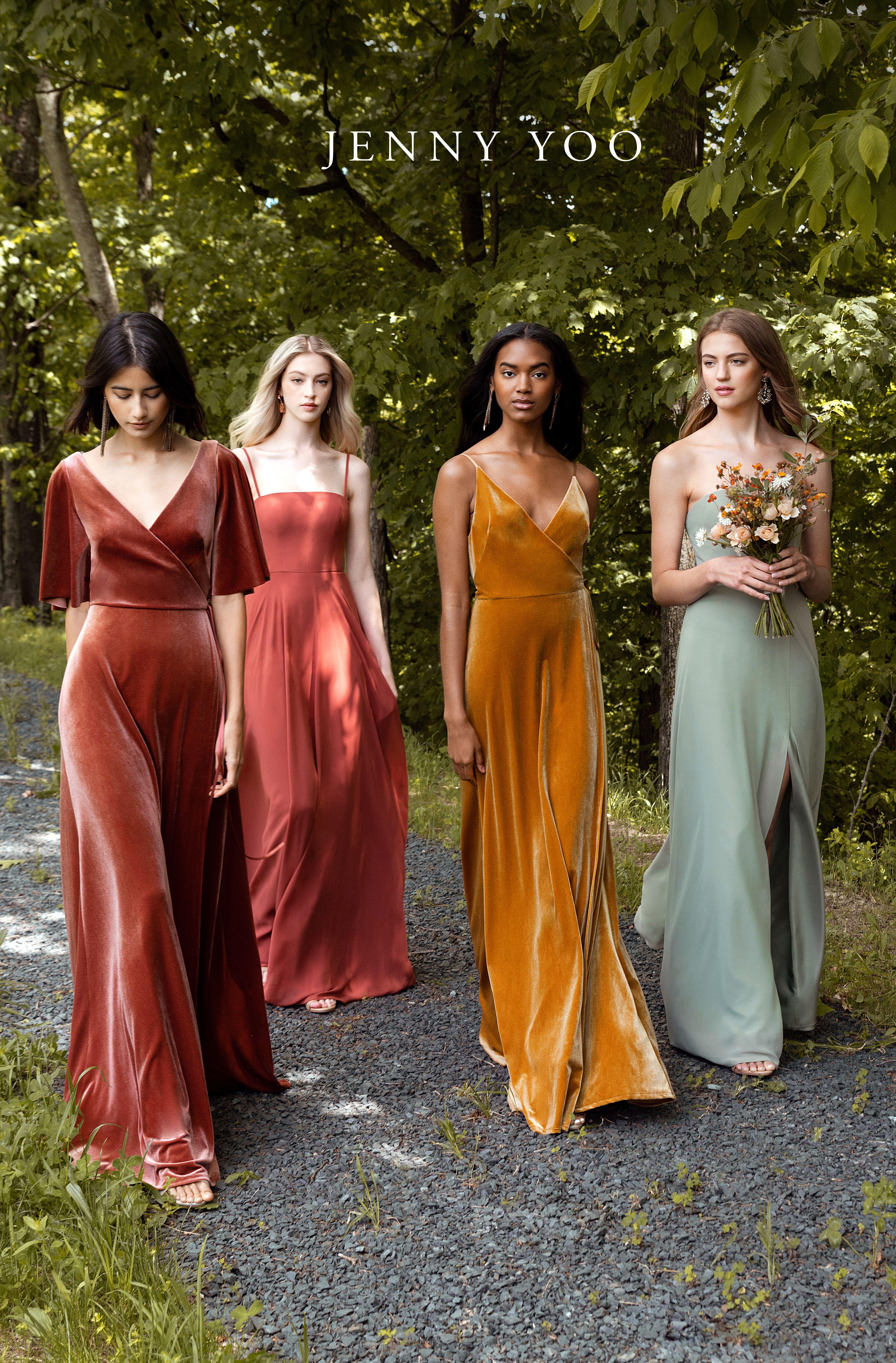 Earth Tone Fall Bridesmaids Dresses Chic Bridesmaid Dresses Bridesmaid Dress Colors Fall Bridesmaid Dresses