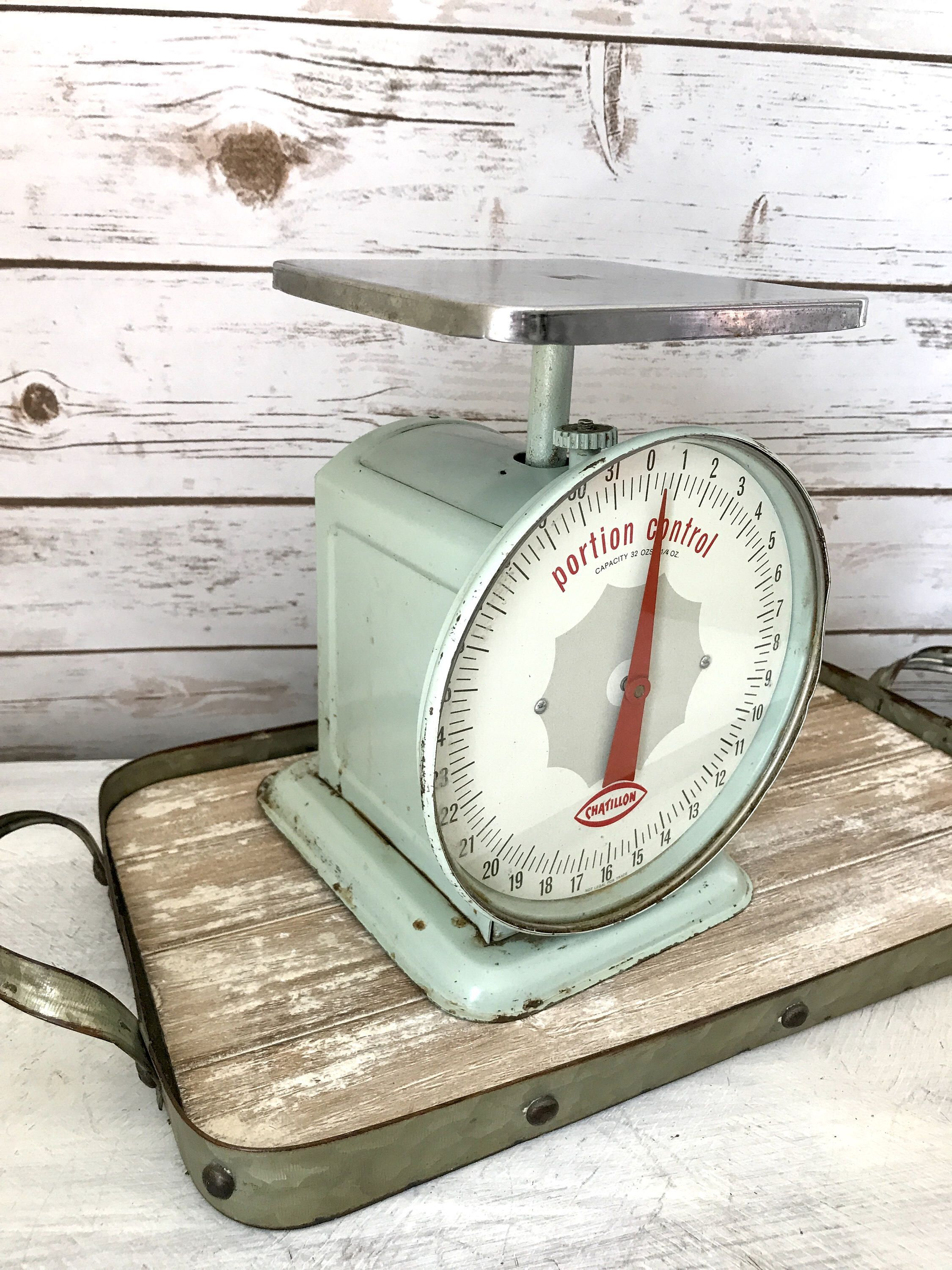 Vintage Kitchen Scale | Mint Green | Shabby Chic Decor | Chatillon ...