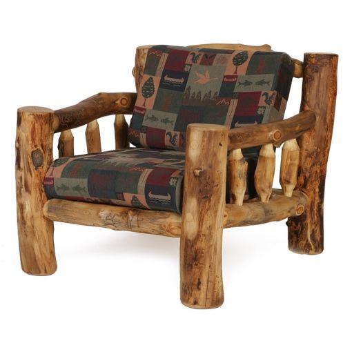 Colorado Aspen Living Room Chair Rustic Log Furniture Transitional Living Room Furniture Log Chairs