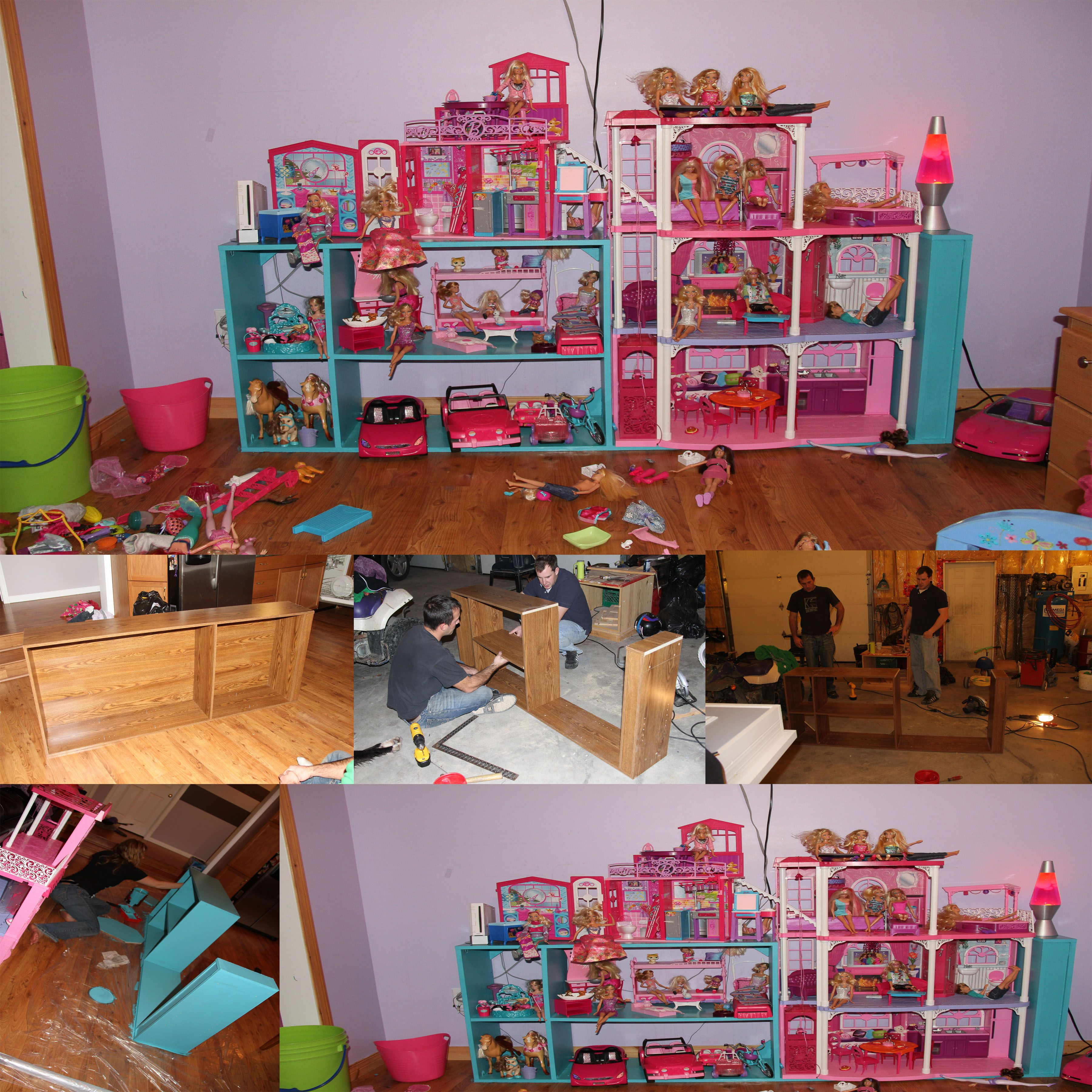 Barbie Furniture Diy: DIY BARBIE STORAGE/PLAY STRUCTURE.