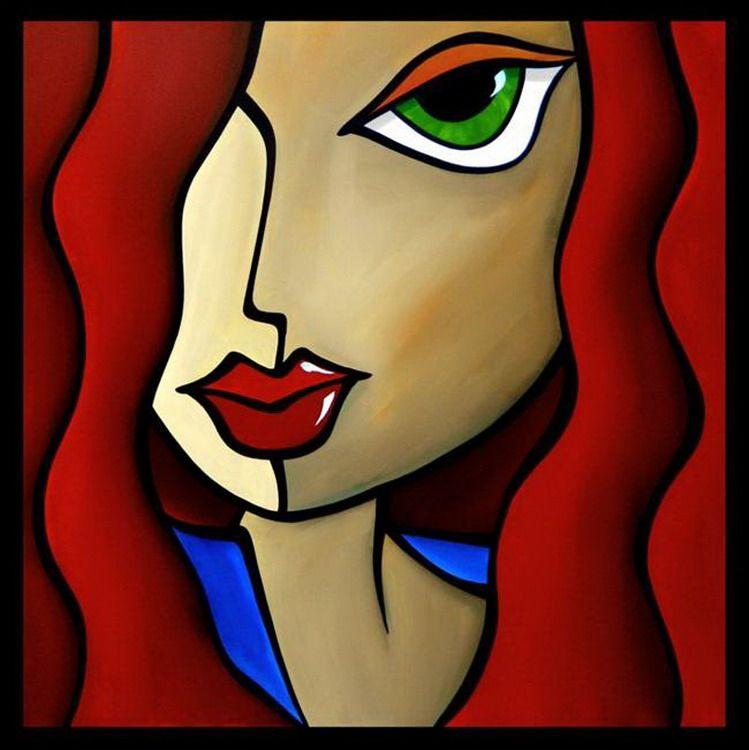 Rostros Modernos Expresiones Arte Expresiones Del Arte Pinturas Abstractas Arte Cubista