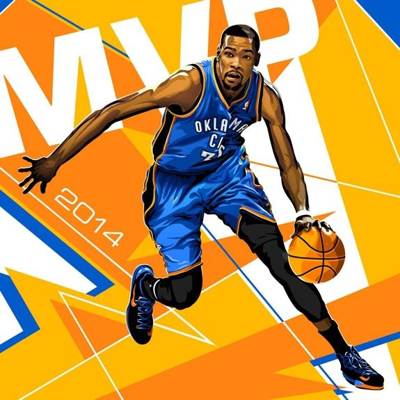 Kevin Durant '2014 MVP' Illustration - Hooped Up