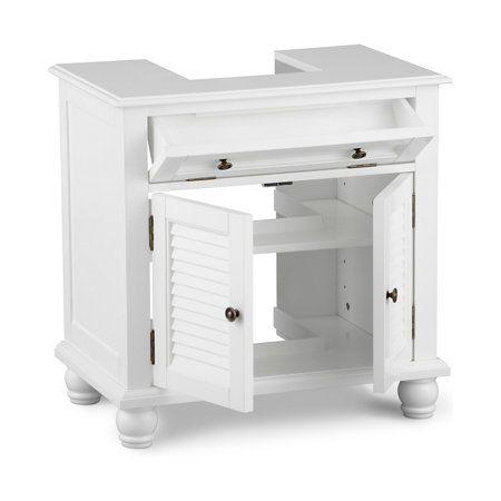 Newport Louvered Pedestal Sink Cabinet
