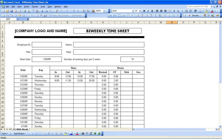 timesheet invoice template excel