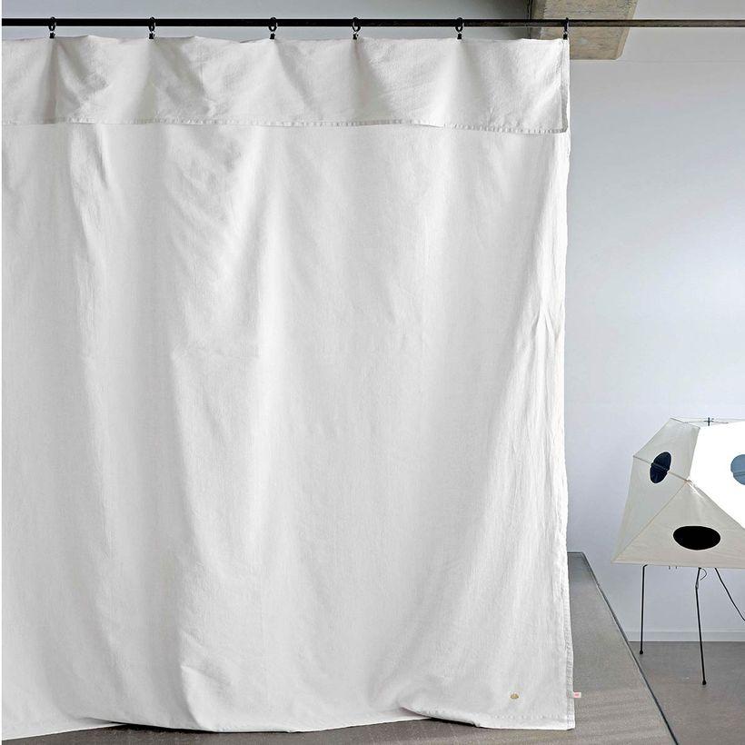 rideau en lin et coton blanc lina la
