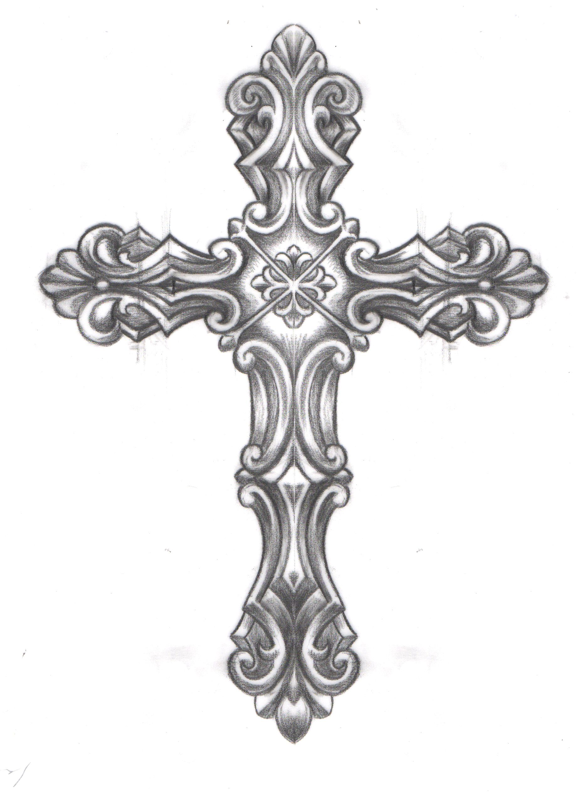filigree cross tattoo designs images galleries with a bite. Black Bedroom Furniture Sets. Home Design Ideas