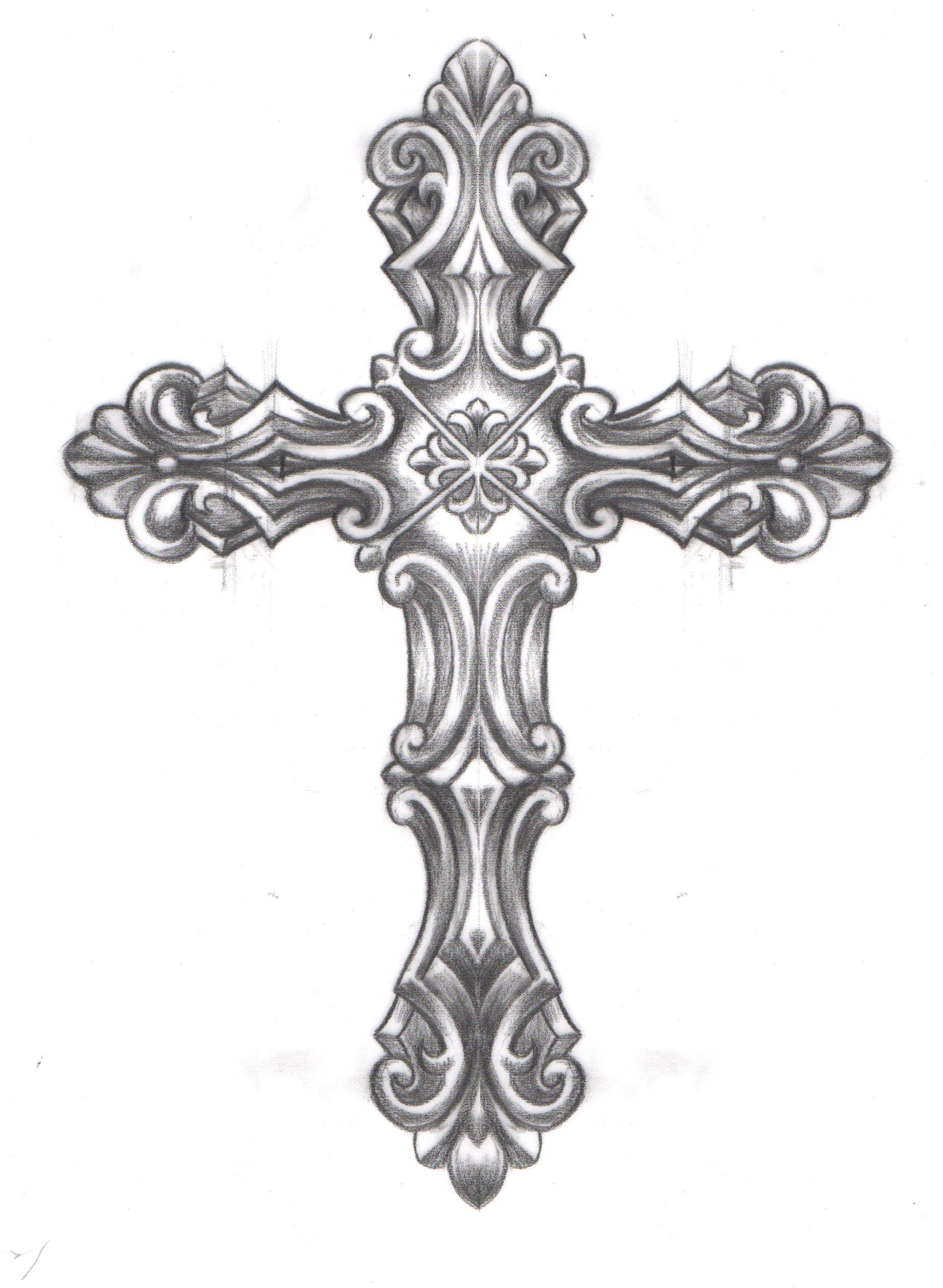 Caspian Caspiandelooze Cross Religious Ornate Cross