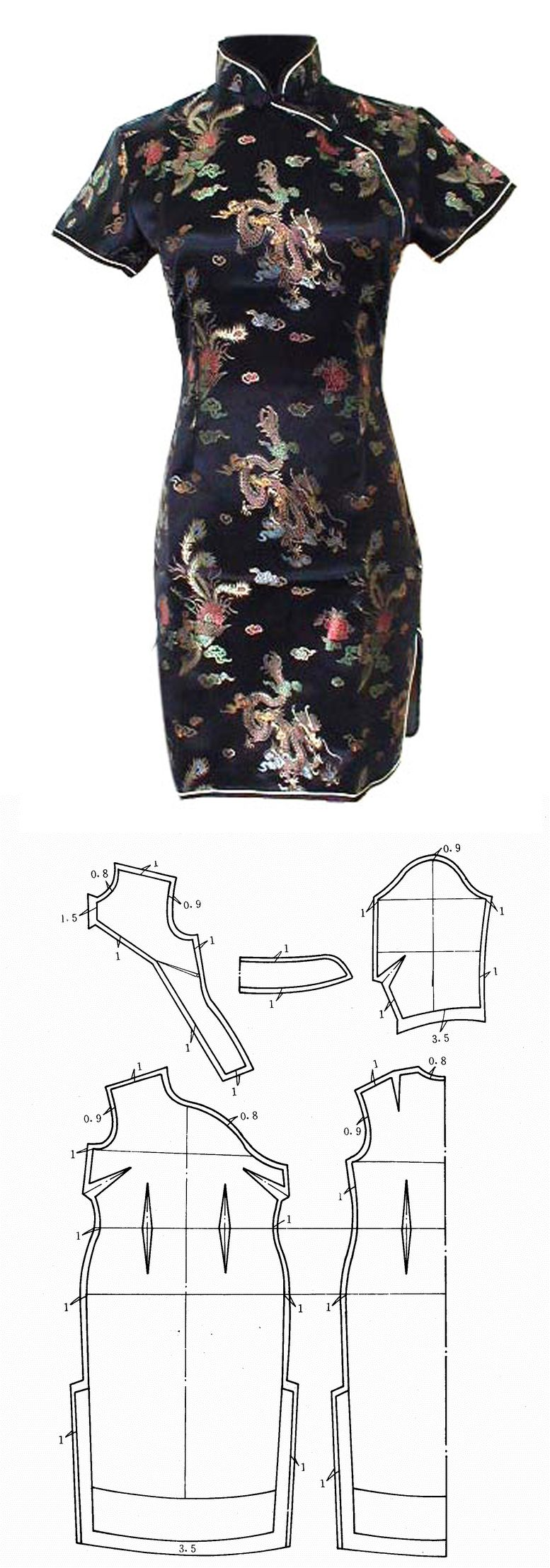 qipao - Tradicional chinese dress pattern … | patterns…