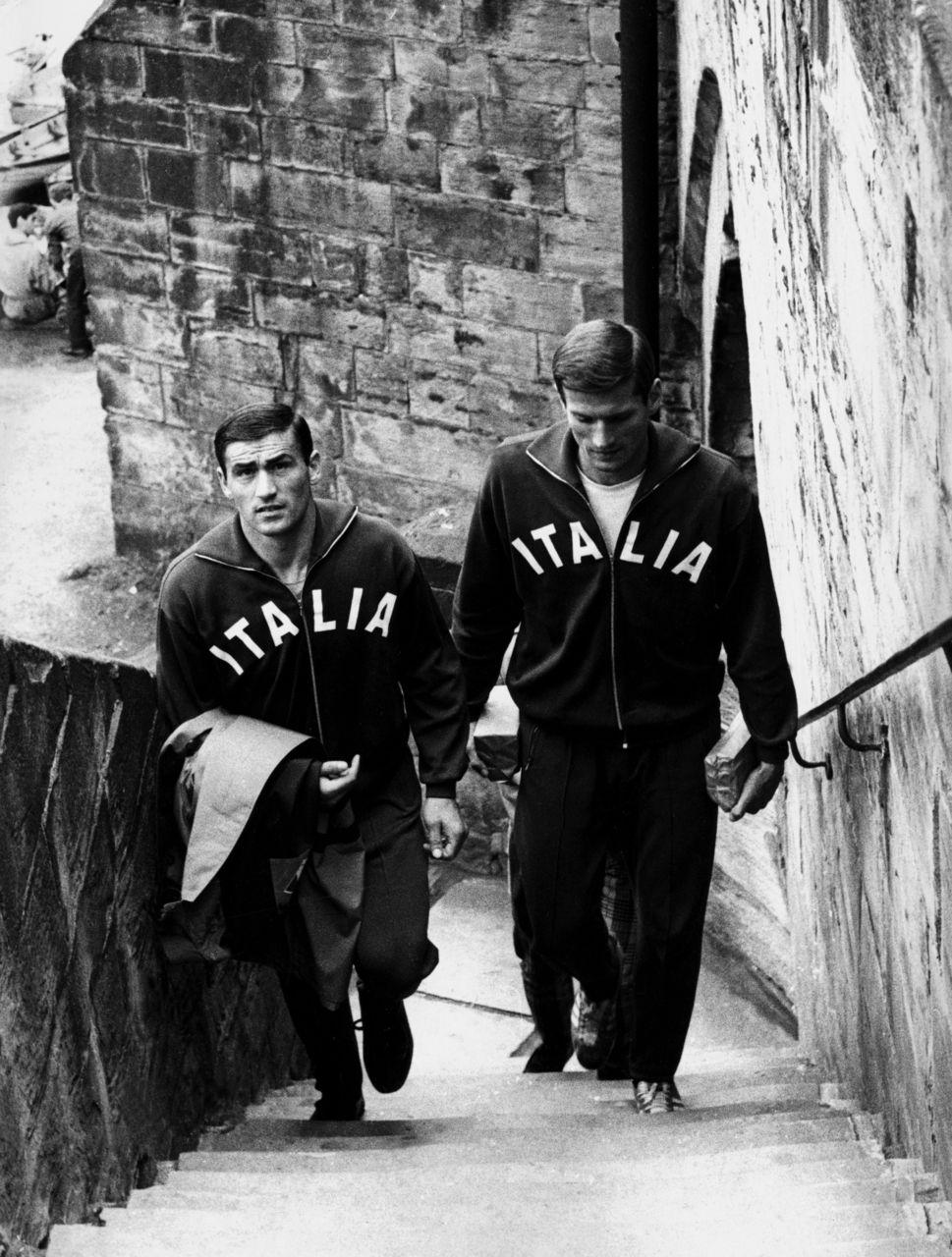 Facchetti et Burgnich Italie 1966