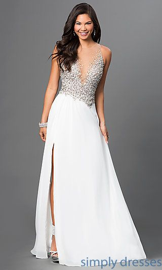 883343f236b  297 Terani Floor Length Sleeveless Gown with Sequin Embellished Sheer  Bodice