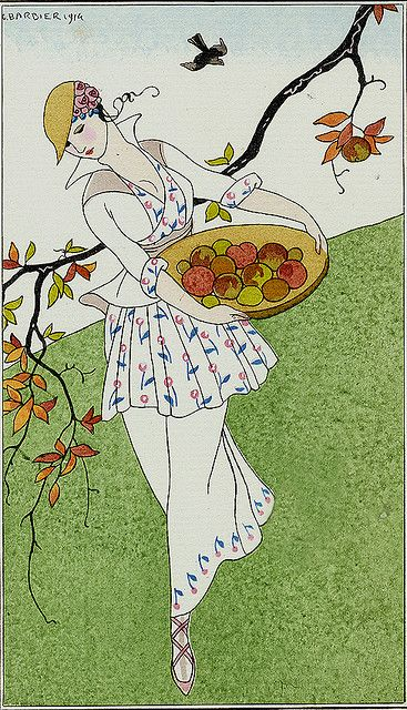 George Barbier (French, 1882-1932). Toilette de taffetas.