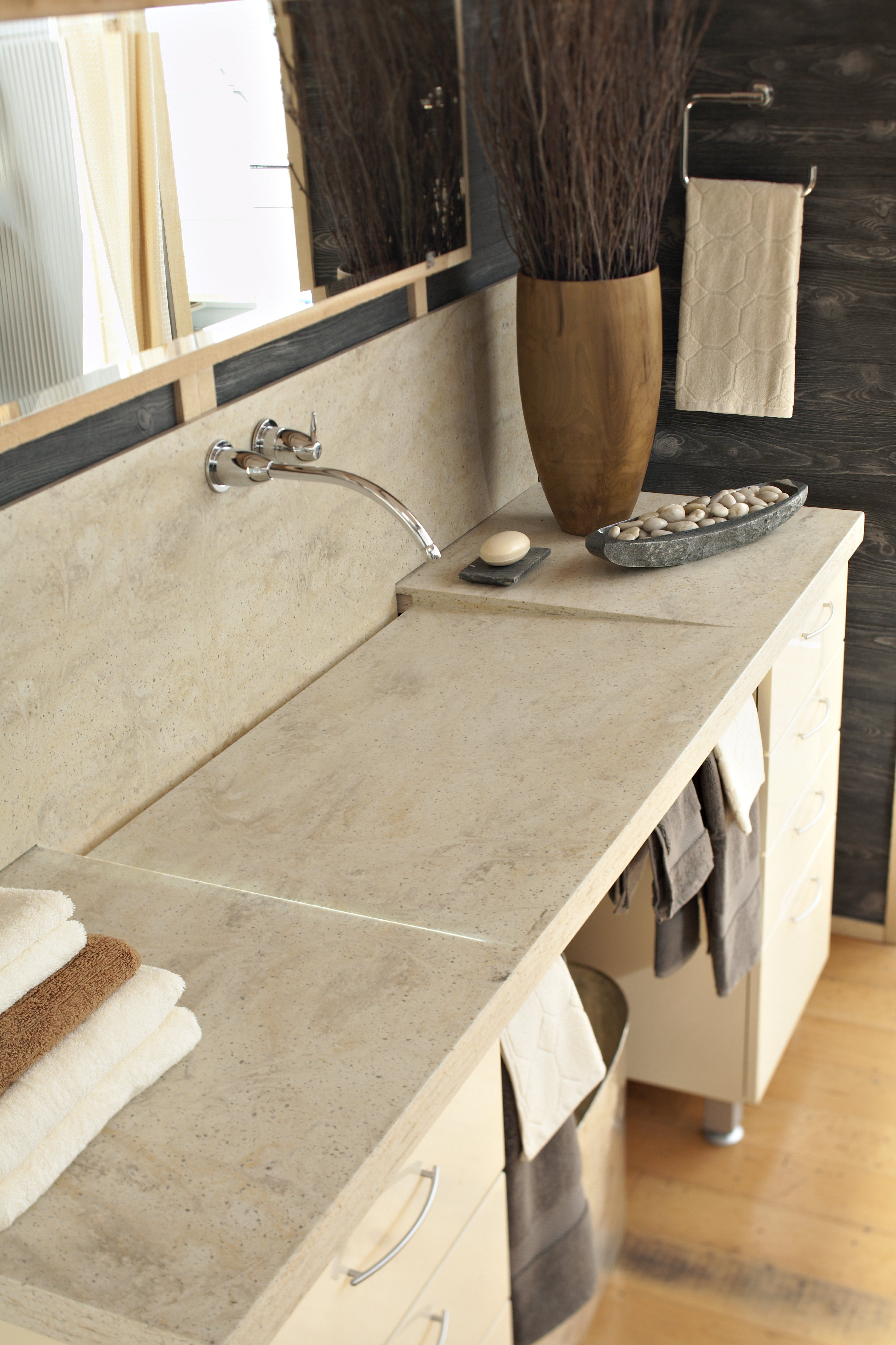 Corian 174 Burled Beach Love The Counter Top But Not The Sink Bathroom Counter Cabinet