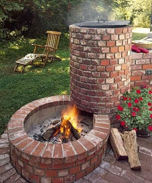 Beyond The Basic Grill Smoker Combo For All About Built In Barbecue Pits Indoorlyfe Com Barbecue Pit Outdoor Fire Backyard Fire