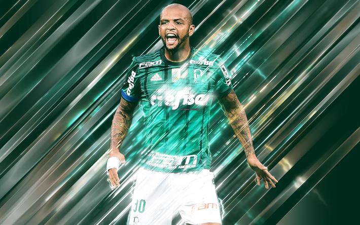 1fa5ae01f8e Download wallpapers Felipe Melo, creative art, blades style, Brazilian  footballer, Palmeiras,
