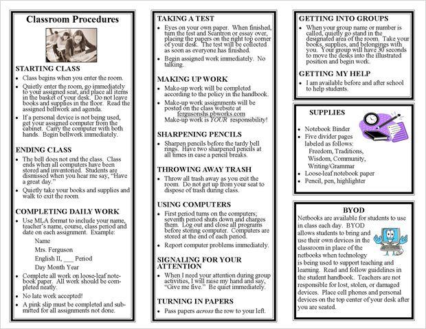 Classroom Procedures Bulletin Board  Math  Classroom Management